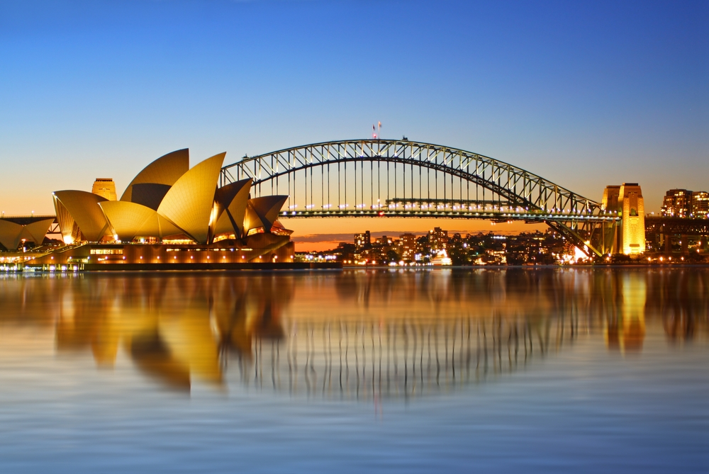 Sydney Harbor and Sydney Opera House
