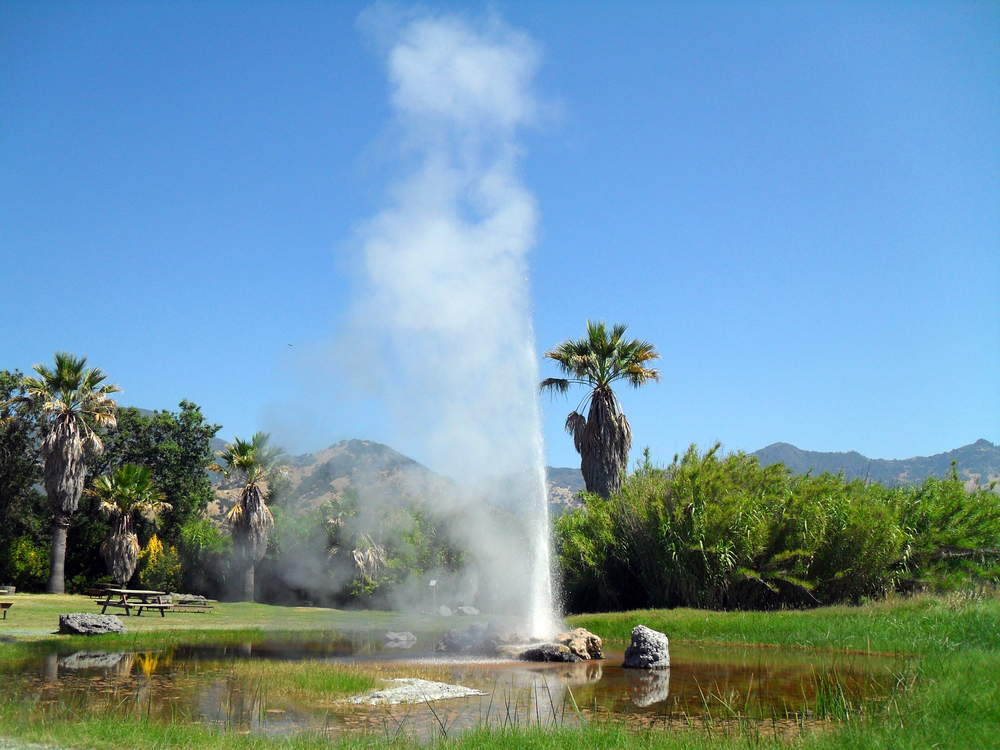 Steam Shooting Geysers