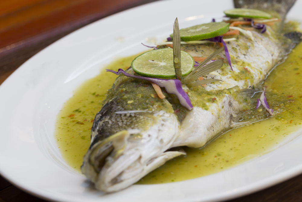 Steamed Sea Bass in Krabi